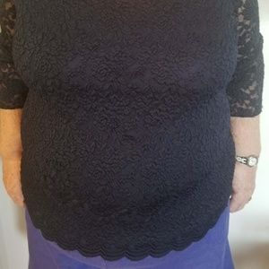 top  woman  dark blue   washable